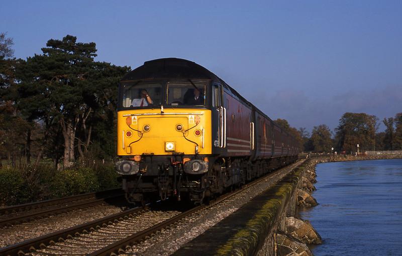 47750,  06.05 Derby-Plymouth, Powderham, near Exeter, 5-12-01.