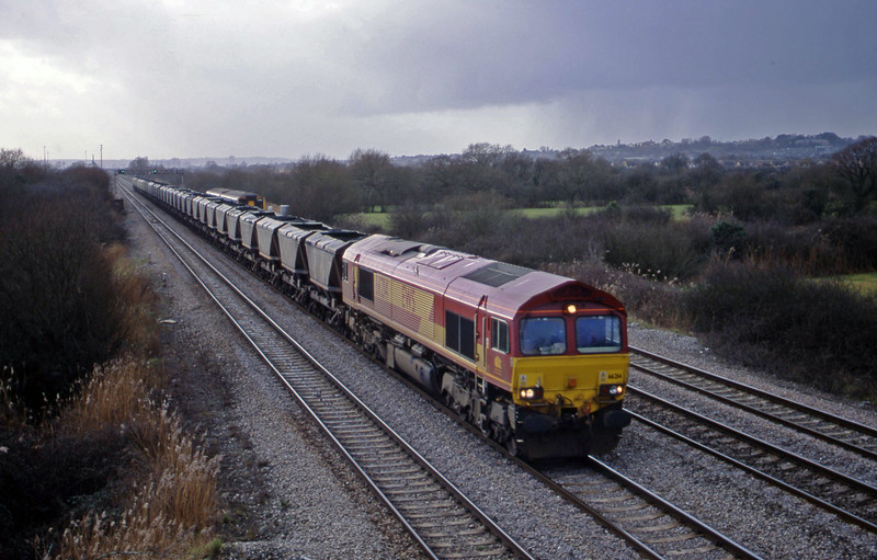 66214, 12.27 Grange Sidings-Llanwern, St Mellons, Cardiff, 6-2-01.