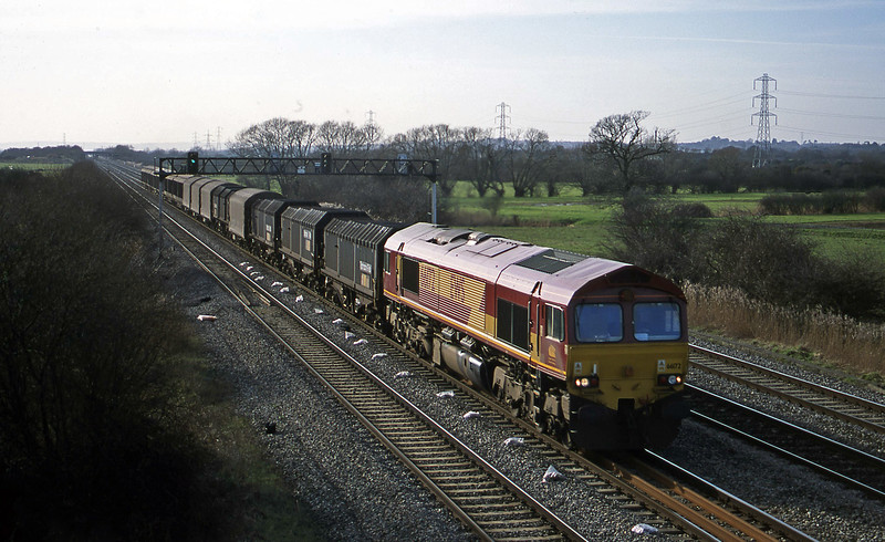 66172, 09.18 Swansea-Newport ADJ, Coedkernow, near Newport, 13-2-01.