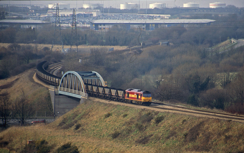 60003, Avonmouth Bulk Handling Terminal-Didcot Power Station, Hallen Marsh, Bristol, 20-2-01.