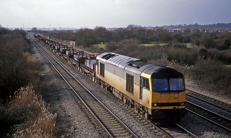 60021, 10.59 Margam-Dee Marsh, St Mellons, Cardiff, 6-2-01.