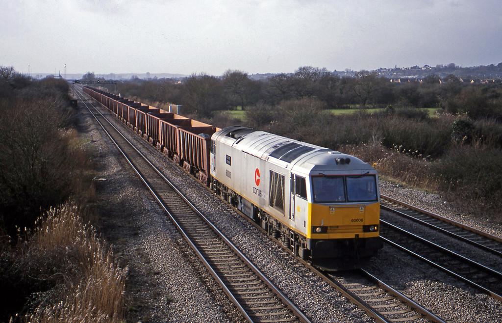 60006, 10.57 Port Talbot-Llanwern, St Mellons, Cardiff, 6-2-01.