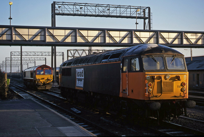 56118, parked, with 66008. Avonmouth St Andrew's Road, 13-2-01.