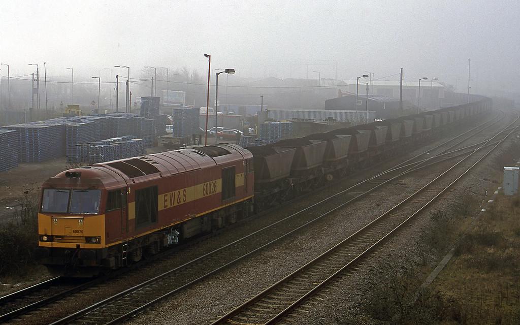 60026, 11.07 Avonmouth-Diudcot Power Station, Hallen Marsh Junction, 20-2-01.