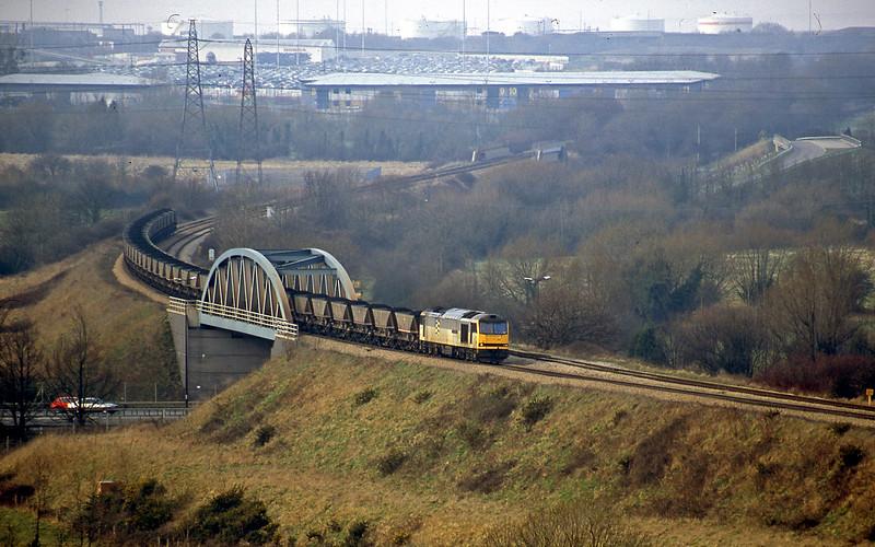 60014, Avonmouth Bulk Handling Terminal-Didcot Power Station, Hallen Marsh, Bristol, 20-2-01.