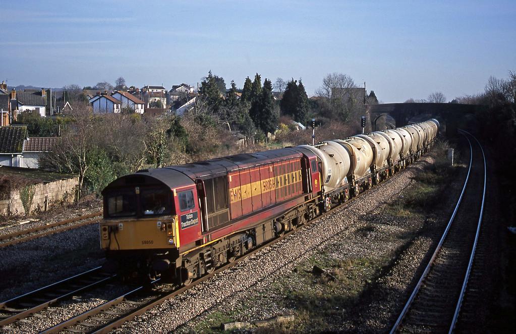 58050, 09.13 Westbury Cement Works-Newport Alexandra Dock Junction, Magor, 13-2-01.