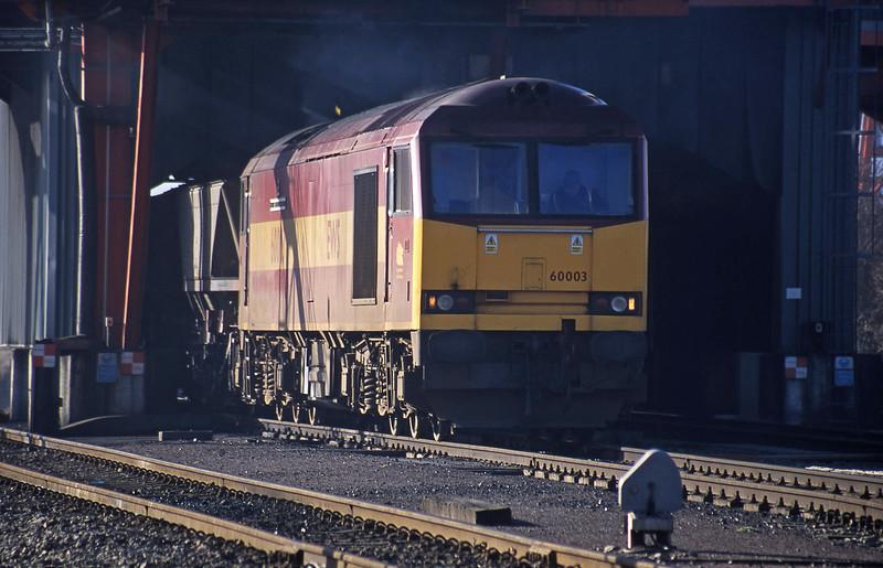 60003, loading, Avonmouth Bulk Handling Terminal, 14-2-01.
