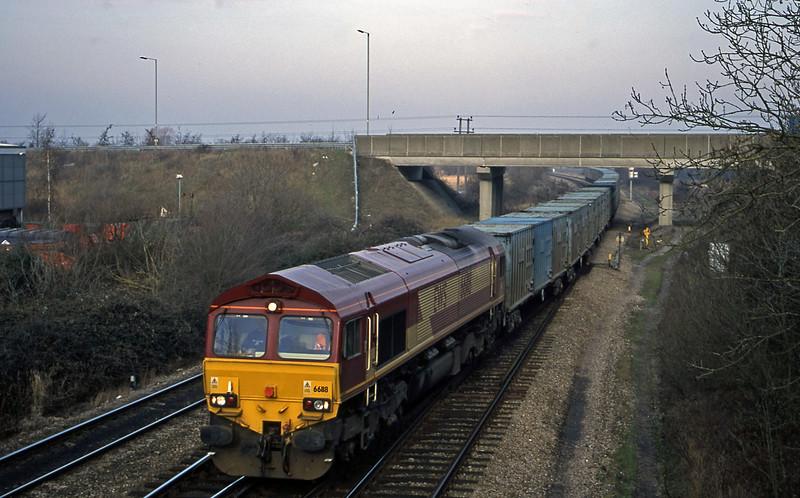 66118, 11.11 Calvert-Bath RTS, Didcot North Junction, 16-1-01.