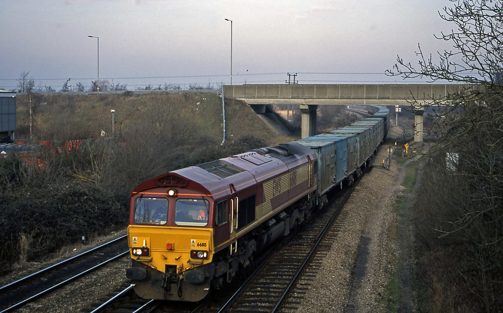 66118, 11.11 Calvert-Bath RTS, Didcot North Junction, 16-1-01.