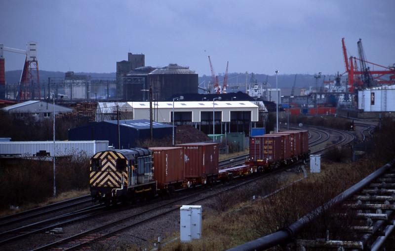 08653, trip from Avonmouth Bulk Handling Terminal to Avonmouth Docks, Hallen Marsh Junction, 23-1-01.