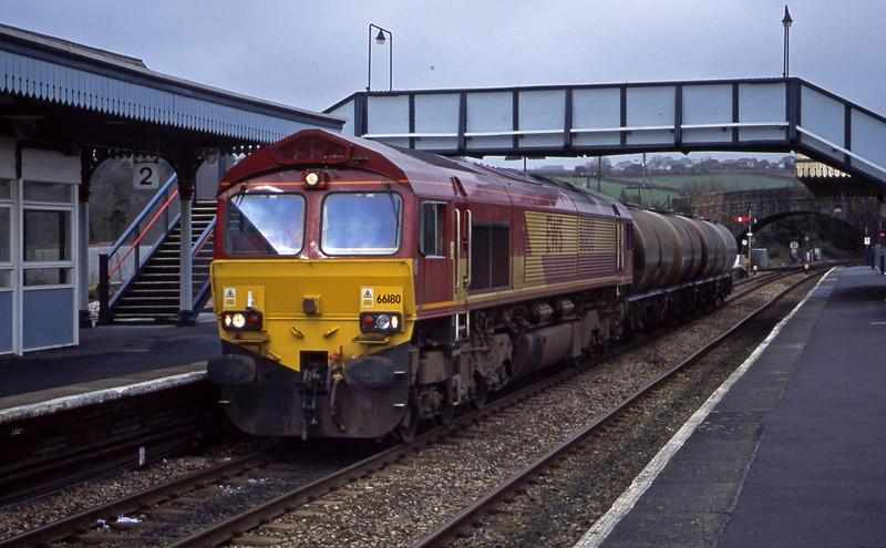 66180, 04.14 Plymouth Tavistock Junction Yard-Penzance, Par, 30-1-01.