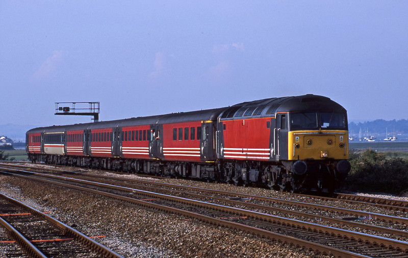 47806, 08.40 Glasgow-Paignton, Dawlish Warren 28-7-01.