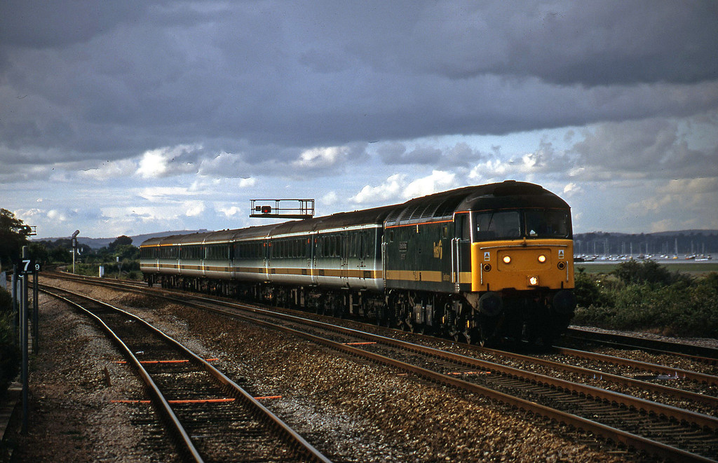 47816, 16.33 London Paddington-Plymouth, Dawlish Warren, 13-7-01.