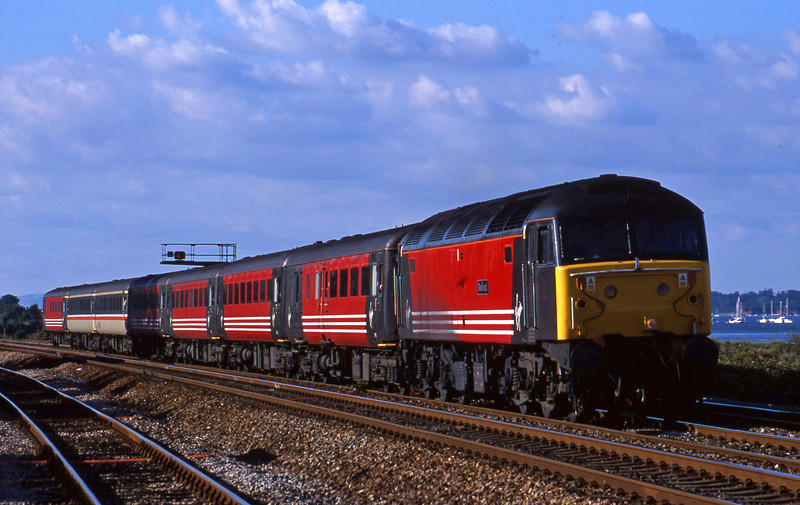 47747, 08.40 Glasgow-Penzance, Dawlish Warren, 31-7-01.