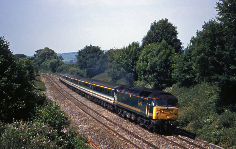 47813, 08.20 Penzance-London Paddington, Whiteball, 3-7-01.