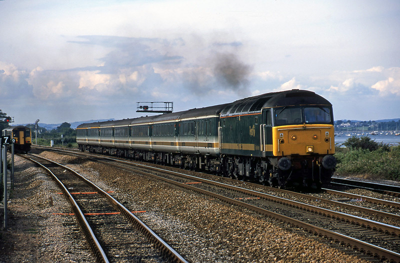 47846, 14.33 London Paddington-Plymouth, Dawlish Warren, 16-7-01.