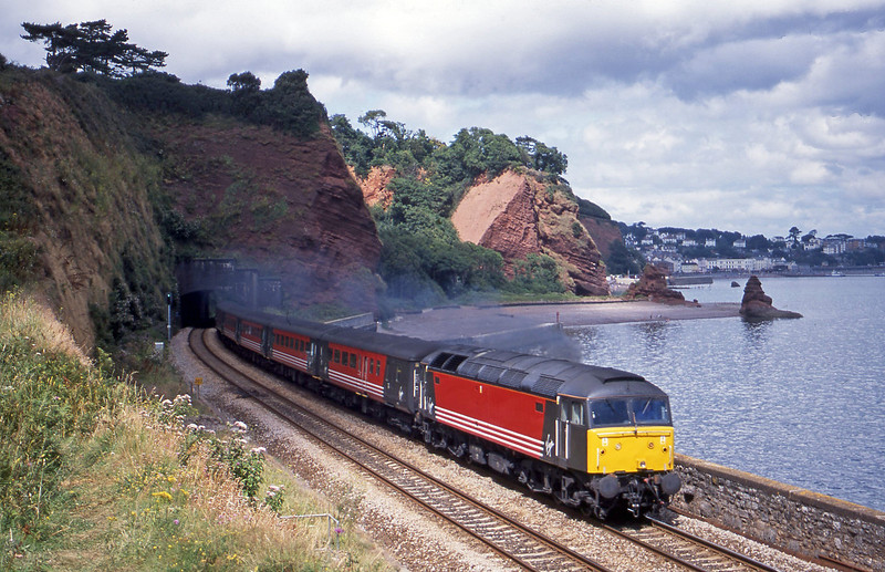 47812, 09.13 Liverpool Lime Street-Plymouth, Horse Cove, Dawlish, 31-7-01.