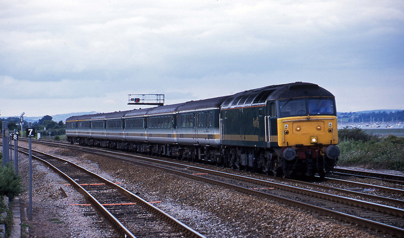47846, 14.33 London Paddington-Plymouth. Dawlish Warren, 24-7-01.