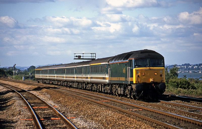 47811, 14.33 London Paddington-Plymouth, Dawlish Warren, 19-7-01.