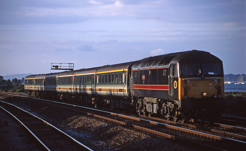 47701, 16.33 London Paddington-Penzance, Dawlish Warren, 19-7-01.