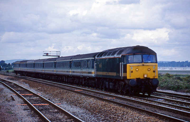 47830, 14.03 London Paddington-Penzance, Dawlish Warren, 22-7-01.