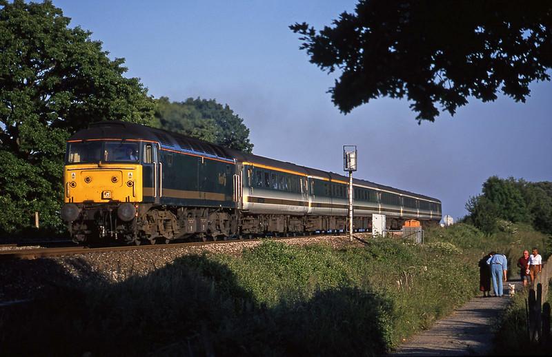 47811, 18.40 Plymouth-London Paddington, Powderham, near Exeter, 22-6-01.