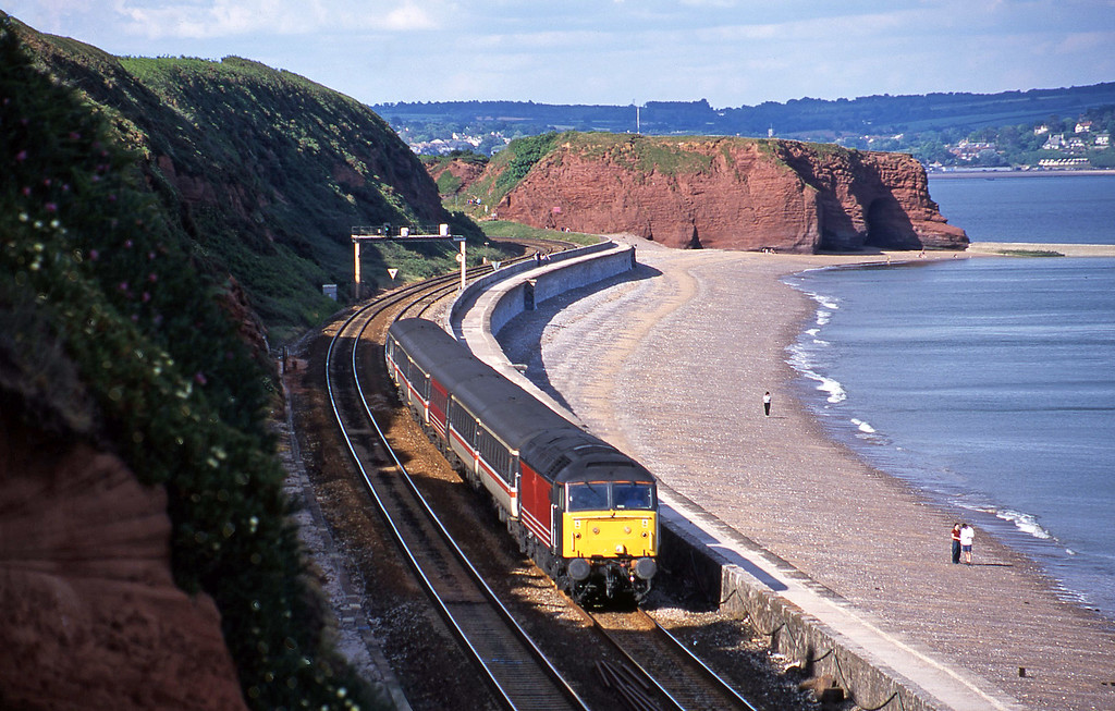 47829, 10.15 Glasgow-Penzance, Dawlish, 10-6-01.