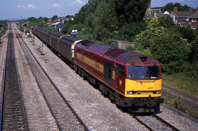 60037, 09.41 Newport Alexandra Dock Junction-Avonmouth Bulk Handling Terminal, Magor, 5-6-01.