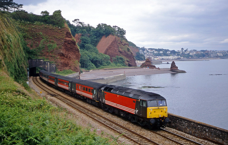 47, 09.13 Liverpool Lime Street-Plymouth, Horse Cove, Dawlish, 20-6-01.
