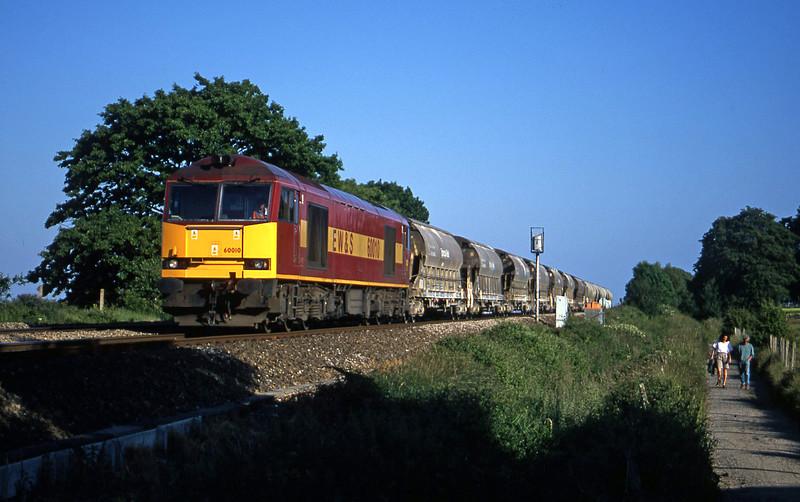 60010, 16.55 St Blazey-Cliffe Vale, Powderham, near Exeter, 22-6-01.