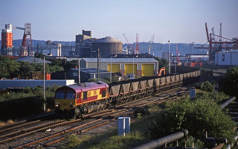66191, up mgr, Hallen Marsh Junction, Avonmouth, 19-6-01.