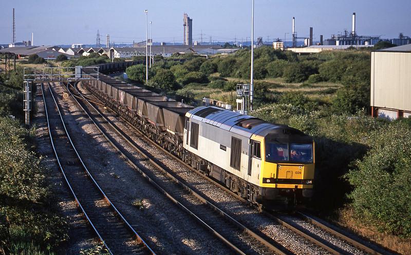 60028, down mgr empties, Hallen Marsh Junction, Avonmouth, 19-6-01.
