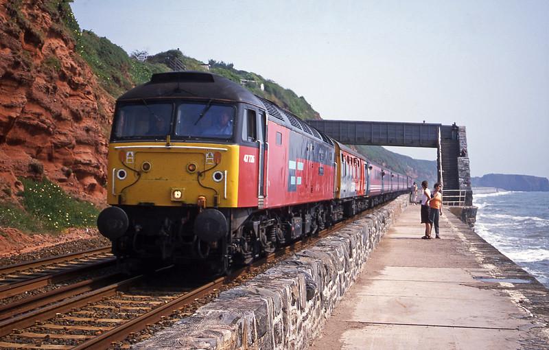 47726, 06.05 Derby-Plymouth, Dawlish, 26-6-01.