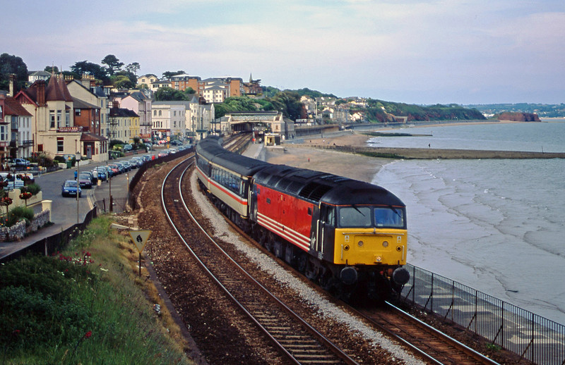 47843, 08.40 Glasgow-Penzance, Dawlish, 12-6-01.
