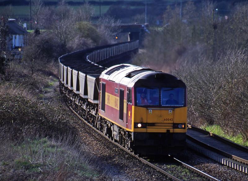 60042, Avonmouth Bulk Handling Terminal-Didcot Power Station, Brentry, Bristol, 27-3-01.