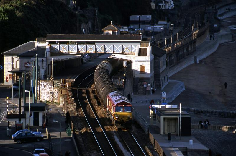 66227, 13.34 Fawley-Plymouth Tavistock Junction Yard, Dawlish, 18-5-01.
