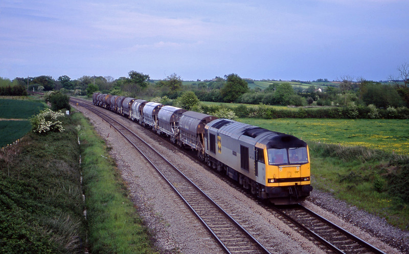 60091, 08.57 Cliffe Vale-St Blazey, Creech St Michael, near Taunton, 15-5-01.