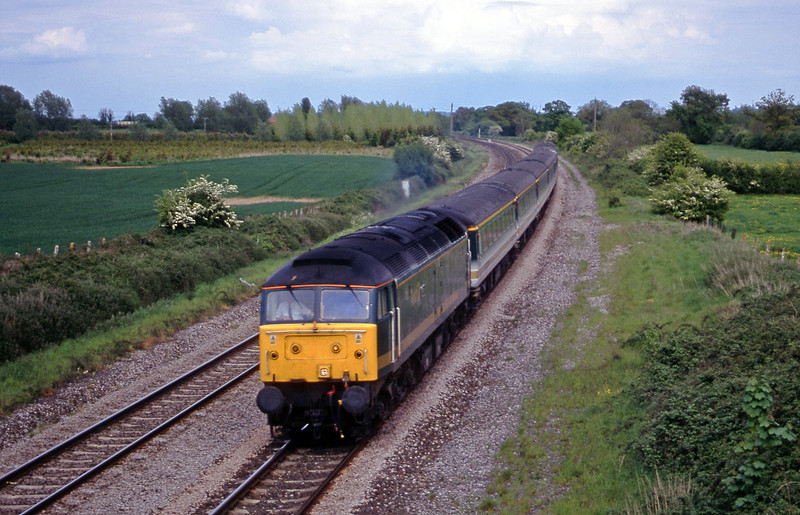 47/8 14.33 London Paddington-Plymouth, Creech St Michael, near Taunton, 15-5-01.