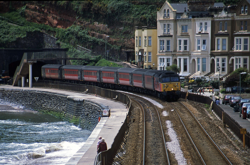 47742, 11.50 Plymouth-Liverpool Lime Street, Dawlish, 16-5-01.