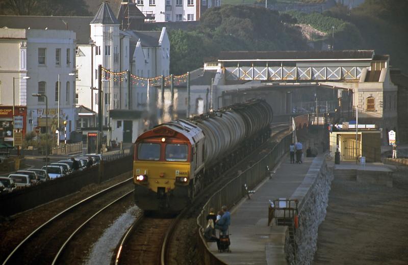 66035, 13.34 Fawley-Plymouth Tavistock Junction Yard, Dawlish, 11-5-01.