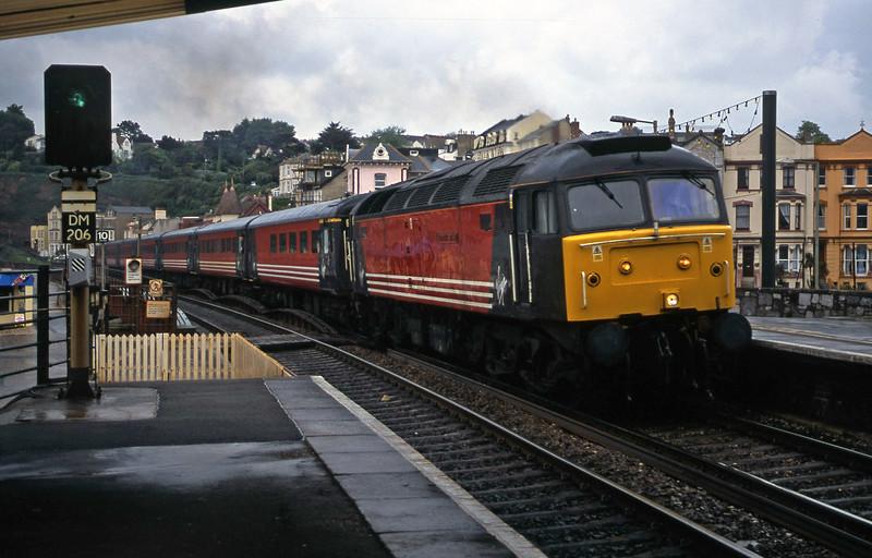 47840, 08.48 Penzance-Manchester Piccadilly, Dawlish, 16-5-01.