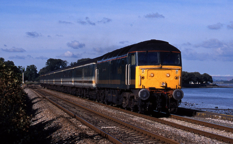 47815, 11.27 London Paddington-Plymouth, Powderham, near Exeter, 20-10-01.