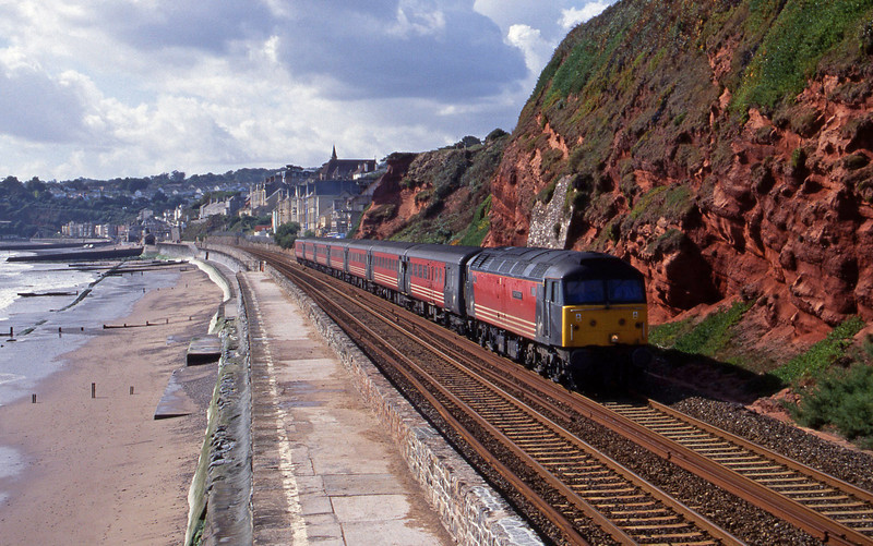 47831, 11.50 Plymouth-Liverpool Lime Street, Dawlish, 3-10-01.