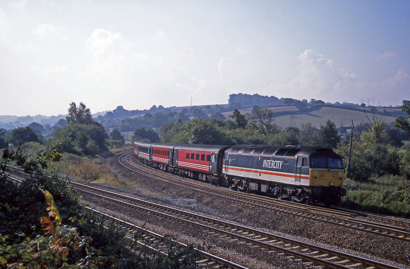 47826, 08.46 Penzance-Manchester Piccadilly, Aller Divergence, Newtown Abbot, 25-9-01.