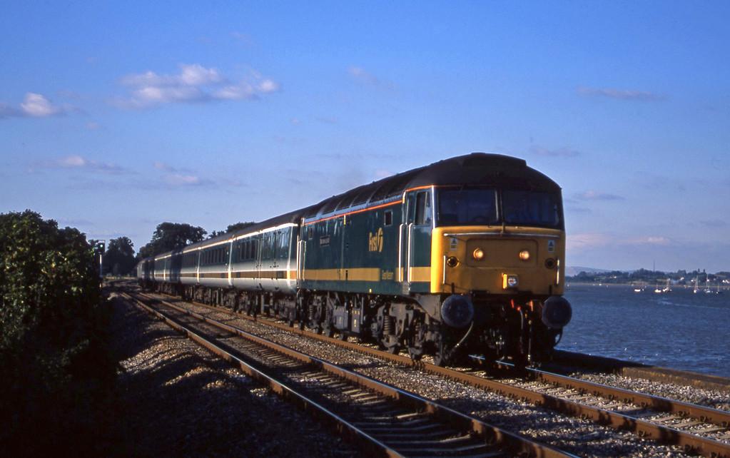 47815, 14.33 London Paddington-Plymouth, Powderham, near Exeter, 17-9-01.