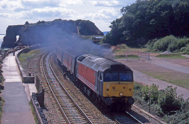 47806, 11.50 Plymouth-Liverpool Lime Street, Dawlish Warren, 4-9-01.