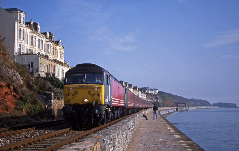 47769, 06.05 Derby-Plymouth, Dawlish, 25-9-01.