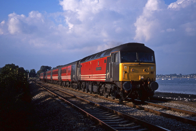 47849, 08.40 Glasgow-Penzance, Powderham, near Exeter, 25-9-01.