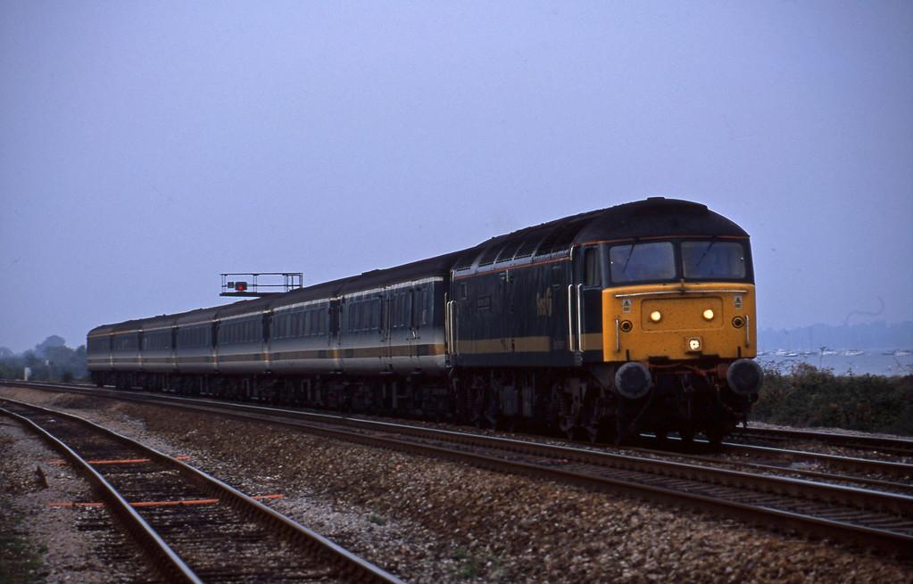 47815, 14.33 London Paddington-Plymouth, Dawlish Warren, 28-9-01.