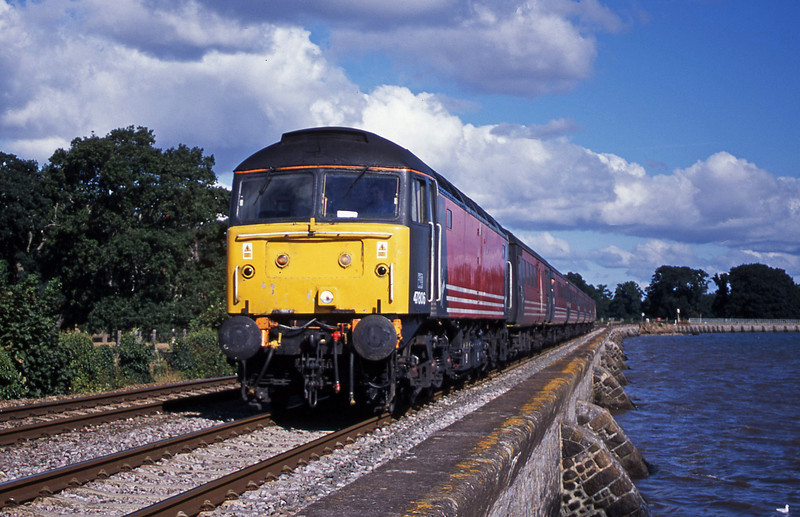 47806, 06.05 Derby-Plymouth, Powderham, near Exeter, 4-9-01.